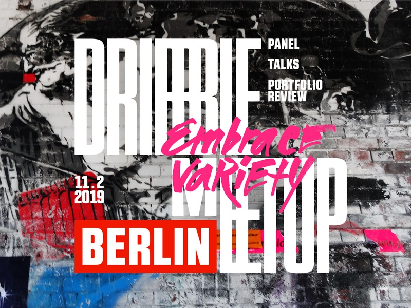 "more ""Berlin-ish"" Dribbble Berlin meetup cover brand identity event conference key visual cover open source graffiti streetart berlin dribbble meetup meetup"