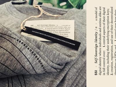 Jolocom t-shirts brand identity collateral startup giveaways github dev team blockchain print tshirt