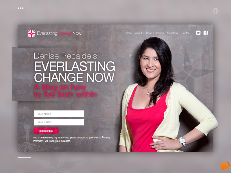 EverlastingChangeNow design photoshop blog psychologist mockupestudio webpage recalde ted conference ted talking consultor