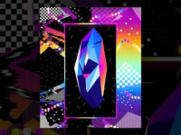 Retro Crystal Poster