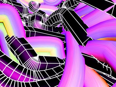 Retro 3D Waves - TUTORIAL