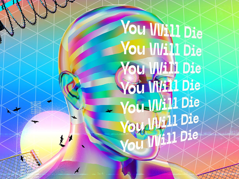 Daily Poster Art 90s design retro chromatic everydays everyday art cyberpunk abstract art vaporwave poster art artwork iridescent poster gradient abstract colorful klarens octane render octanerender octane