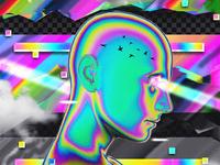 chrome glitch poster