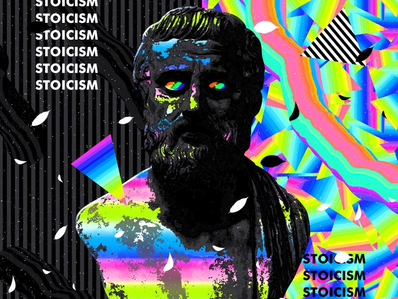 Tutorial - Modern Poster chromatic everydays everyday art cyberpunk abstract art vaporwave artwork iridescent gradient abstract colorful klarens poster art poster design trendy statue tutorial class poster skillshare