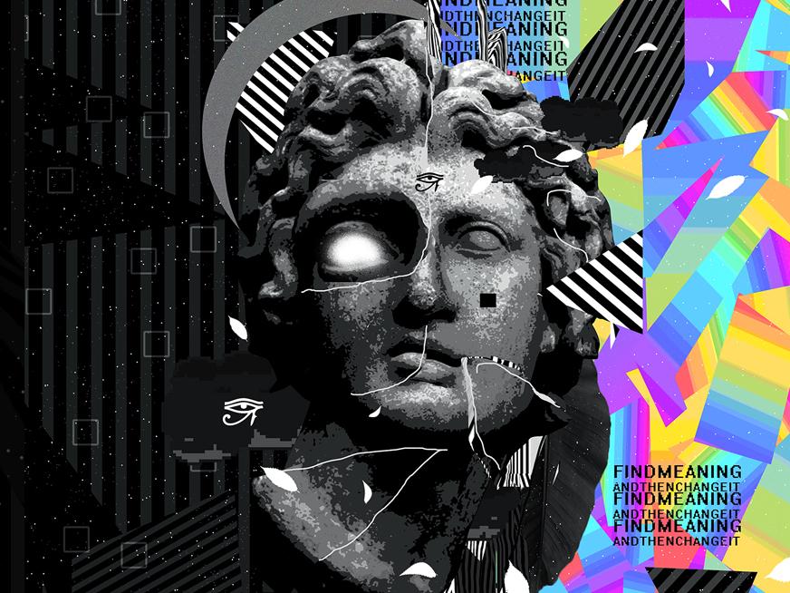Tutorial - Geometric Poster Art everyday art cyberpunk abstract art geometric design klarens malluta vaporwave artwork iridescent abstract colorful klarens posters triangles gradient pinterest trendy modern poster poster art geometric