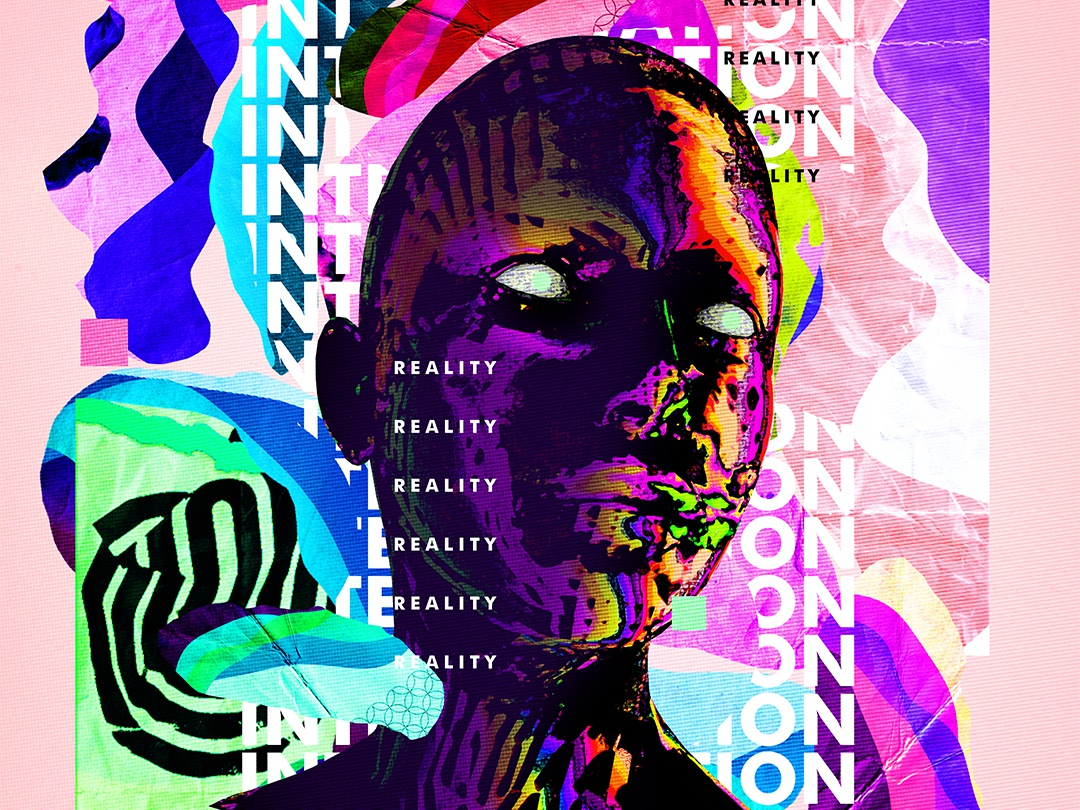 Collage Poster Art design retro everydays everyday art illustration cyberpunk abstract art vaporwave poster art poster iridescent gradient abstract colorful klarens artwork digital art collageart collage digital