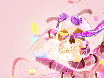 head skull 3d abstract