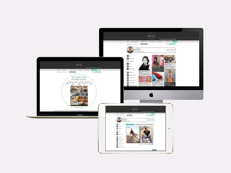 Ethical Fashion Forum Webdesign webdesign digital website photoshop design graphic brand and identity branding