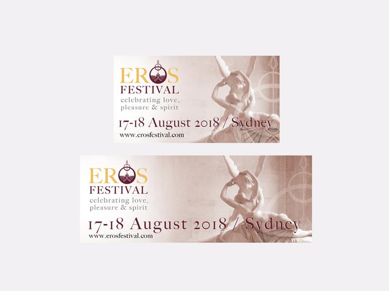 Eros Festival Facebook Banners facebook banner digital photoshop logo brand and identity graphic design branding