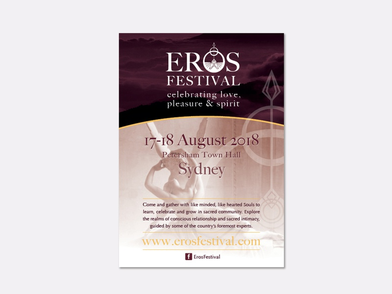 Eros Festival Flyer print flyer typography indesign logo illustration brand and identity graphic design branding