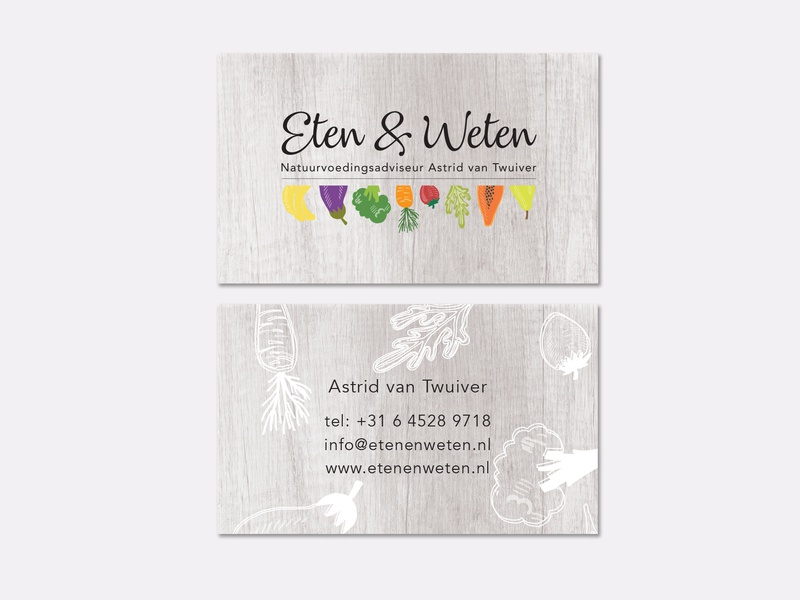 Eten & Weten Business Cards logo corporate branding print business card indesign typography illustrator illustration brand and identity graphic design branding