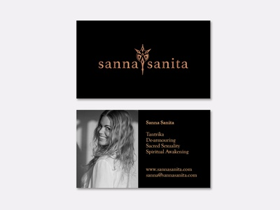 Sanna Sanita businesscard business card print indesign typography logo illustration brand and identity graphic design branding