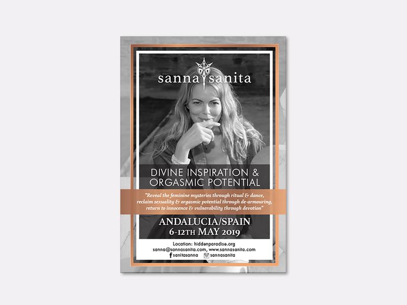 Sanna Sanita flyer flyer promotion print indesign logo illustration brand and identity graphic design branding typography