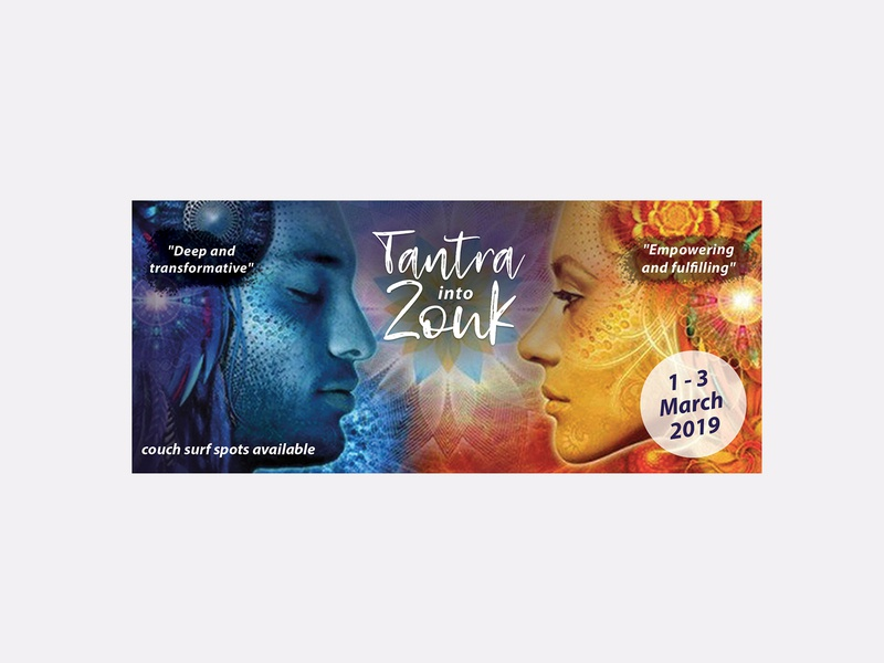 Tantra into zouk banner promotion banner digital photoshop logo brand and identity graphic design branding