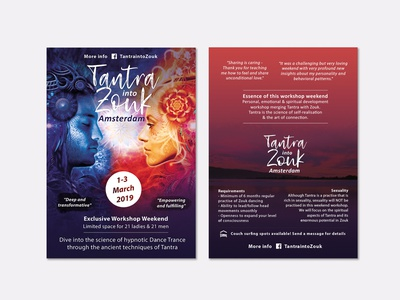 Tantra into zouk flyer flyer promotion print indesign photoshop logo brand and identity graphic design branding