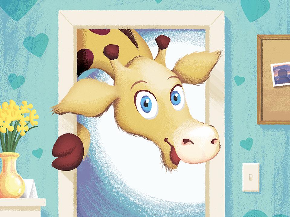 Visiting Hours story book illustration fun hospital giraffe