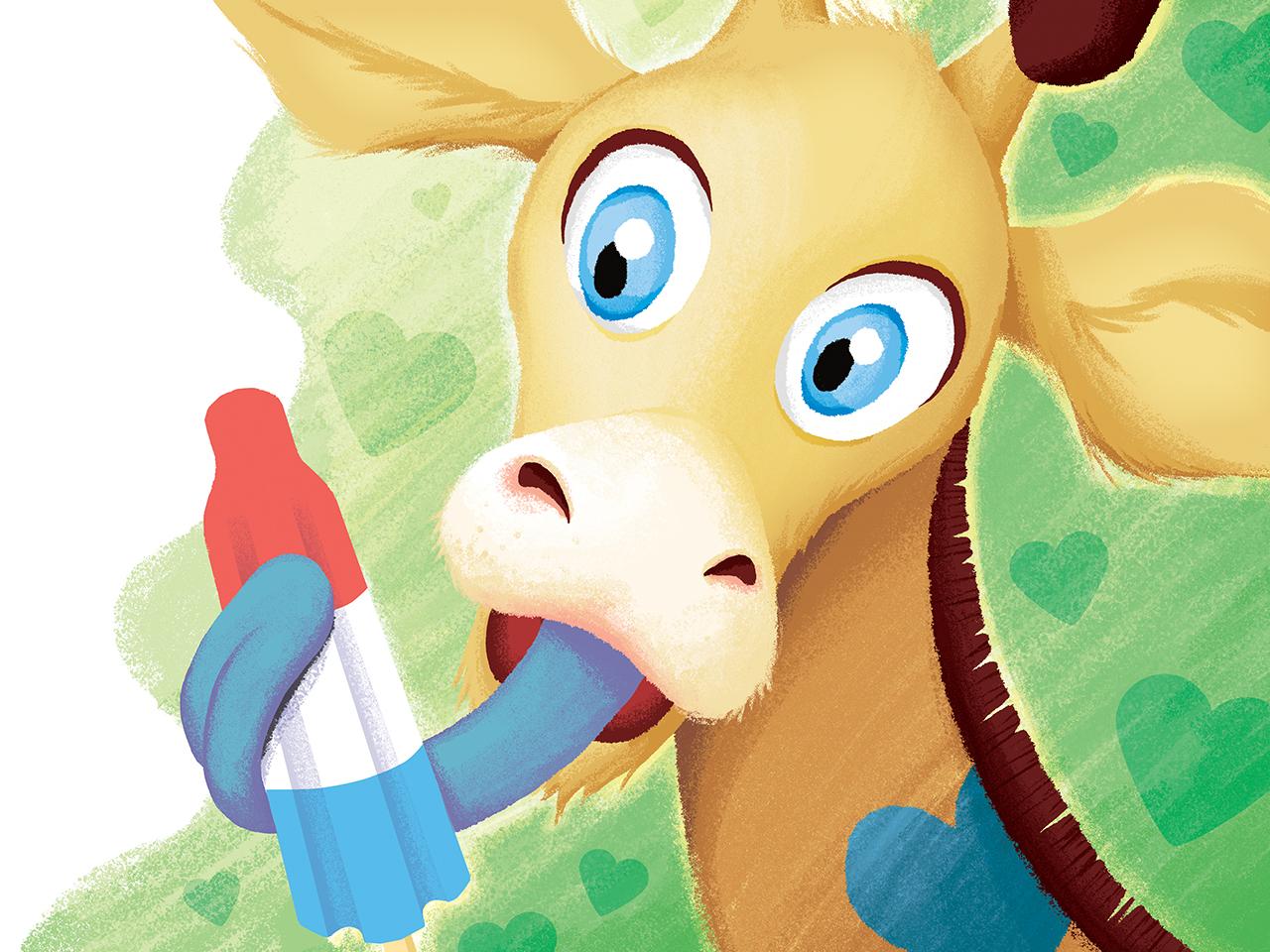 Giraffe Bomb bomb giraffe fun illustration children book popcicle