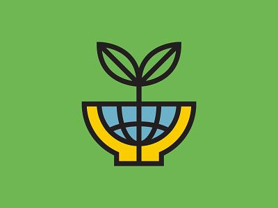 Happy Earth Day! leaves design university state wichita grid monoline logo monoline community garden plant earthday