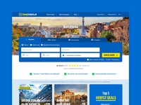 Cheaptickets - Home with Horizontal Search box