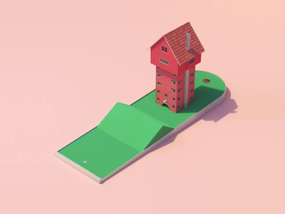 Golf Club 1 redshift3d cinema4d minimalist gif illustration house illustration house golfing golfer golf motion design motiongraphics