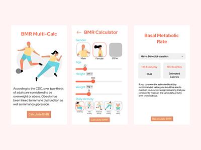 BMR Calculator calculator ui calculator dailyui 004 design daily ui ui dailyuichallenge