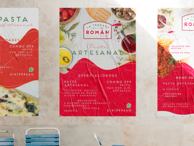 La Terraza de Román mockup mock up posterdesign poster collection poster art logo graphic  design graphic design italiano ristorante italian italian food