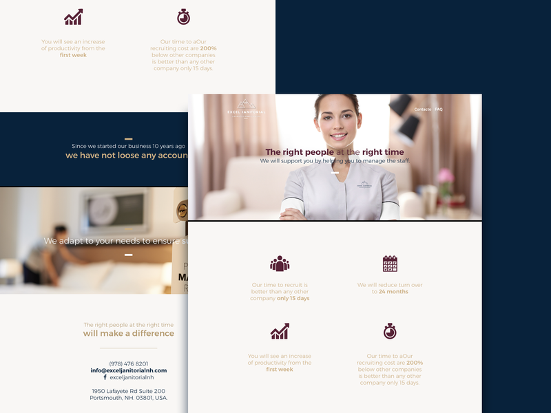 Excel Janitorial clean design clean  creative clean icon a day janitor hotel vector mockup design graphicdesign icon graphic ui ux graphic  design flat landing design landing landing page web