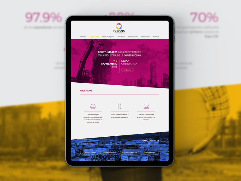 Expo CID urban city freelance work archive exhibition expo construction clean mockup project ui  ux design design flat graphic  design graphic landing landing page webdesign web