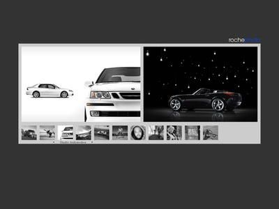 Roche Photo - Slide panel gallery and gallery selection ux  ui ux interactive programming custom cms oops actionscript