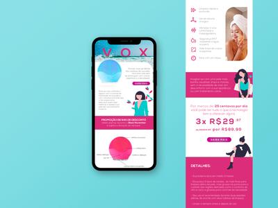 Limpador de Pele - VOX - Landing Page Mobile