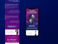 SmartWatch - B57 - Landing Page Mobile