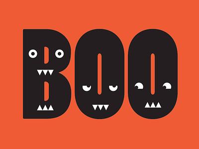 Boo! design illustration