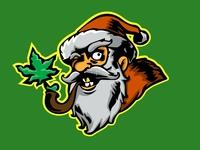 Badass Santaclaus Smoking Cannabis