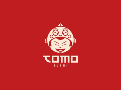 Restaurant Tomo Sushi Logo sushi identity design identity visual identity branding brand logotype logo design logos mark symbol vector asian food mascotte amsterdam asian restaurant illustration logo jeffrey dirkse