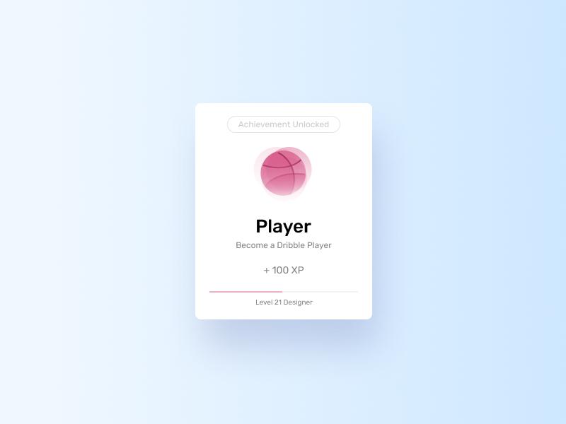 First Shot - Achievement Unlocked flat notifications figma ui design illustration