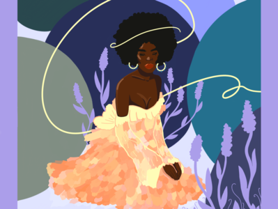 Lavender Girl artwork women illustration flat design characterdesign procreate illustration procreate illustration digital drawing digital design color palette