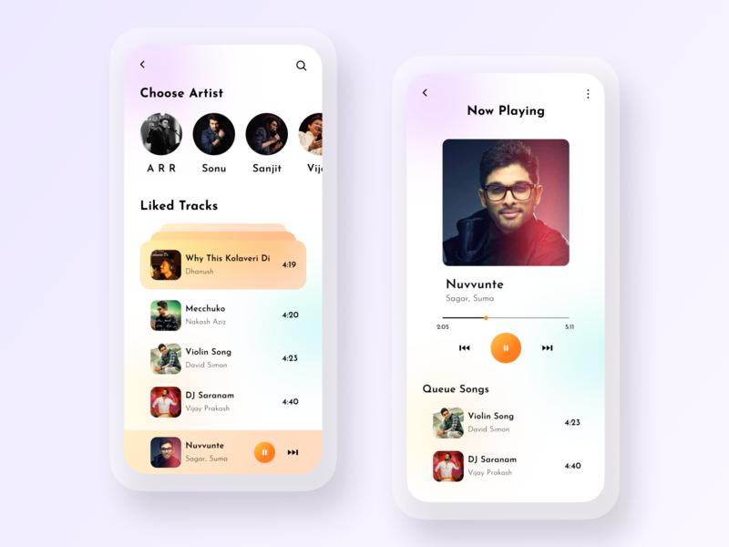 New Modern Music Player App branding adobe illustrator app design user experience ui design adobe photoshop adobe xd figma ux ui