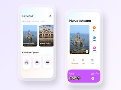 Trip Planning App Design branding animation app design user experience ui design adobe photoshop adobe xd figma ux ui