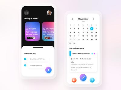 Modern & Minimal Task Scheduling/Calendar App ui design adobe illustrator app design user experience ux ui adobe photoshop figma adobe xd