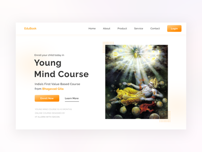 Bhagavad Gita Course Site Homepage ui design adobe xd web designer web design ui  ux ui designs ux ui user experience adobe illustrator adobe photoshop figma
