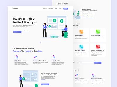 Crowdfunding Website Landing Page app design product design adobe photoshop adobe illustrator adobe xd figma ui design user experience ux ui