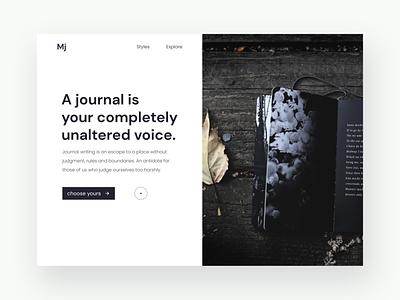 Designer Journal Shopping website. ❤ minimal website ui design web design design adobe photoshop adobe illustrator adobe xd figma user experience ux ui