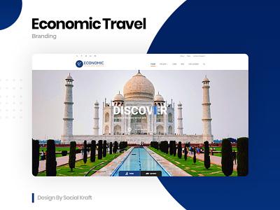 Economic Travel - Tour Agency Website Design, Developmet.🛫 travel website deisgn tour website traveling travel agency website travel agency card graphicdesign travel agency