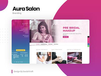 Aura Salon - Spa, Beauty & Hair Salon WordPress Website Design graphicdesign beauty salon beauty salon website design beauty salon design salon website development wesite design aura salon website design salon website design salon website