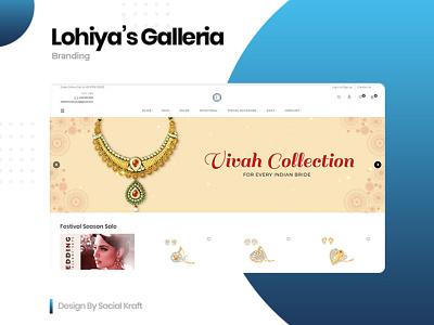 Lohiya's Galleria - Design & Development Jewellery Online E-Shop website design company jewellery ecommerce website jewellery jewellery website design website designer jewellery store jewellery logo jewellery shop