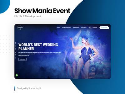 Showmania Events | Official Website Redesign UI/UX design design agency website ux website ui design wedding planner event planner website design event planner website design and development event design event website