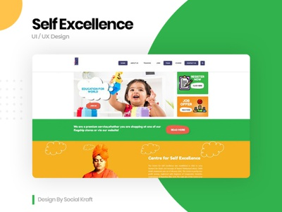 Self Excellence - Training Institute Website - Design & Develop design coaching website design website desin agency website redesign website design uiux uxdesign uidesign coaching institute