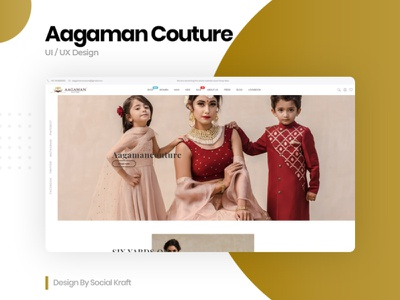 Women's Fashion & Clothing Website - AAGAMAN COUTURE home page design landing page design uiux website ux website ui design clothes shop clothing brand clothing