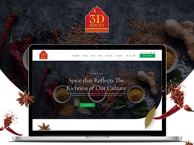 3D Spices - Website & UIUX Design Project design branding design web design ux design uidesign spices website branding