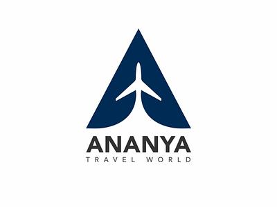 Ananya Travel Agency - Logo Design branding logodesign tour agency logo website logo logo design travel agnecy logo logo
